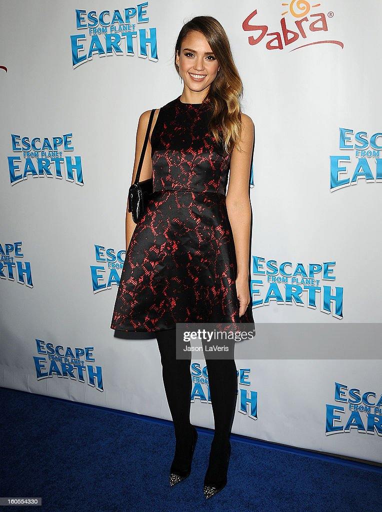 Actress Jessica Alba attends the premiere of 'Escape From Planet Earth' at Mann Chinese 6 on February 2, 2013 in Los Angeles, California.