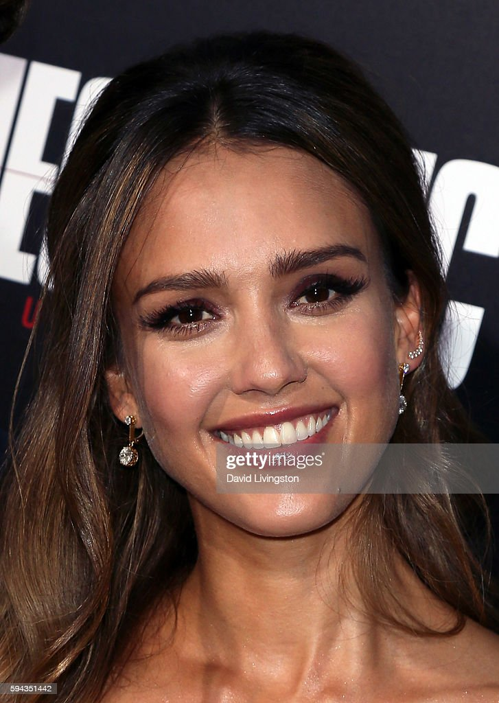 Actress Jessica Alba attends the premiere of Summit Entertainment's 'Mechanic Resurrection' at ArcLight Hollywood on August 22 2016 in Hollywood...