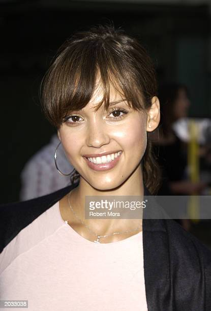 Actress Jessica Alba attends the premiere of 'The Italian Job' at Grauman's Chinese Theatre on May 27 2003 in Hollywood California