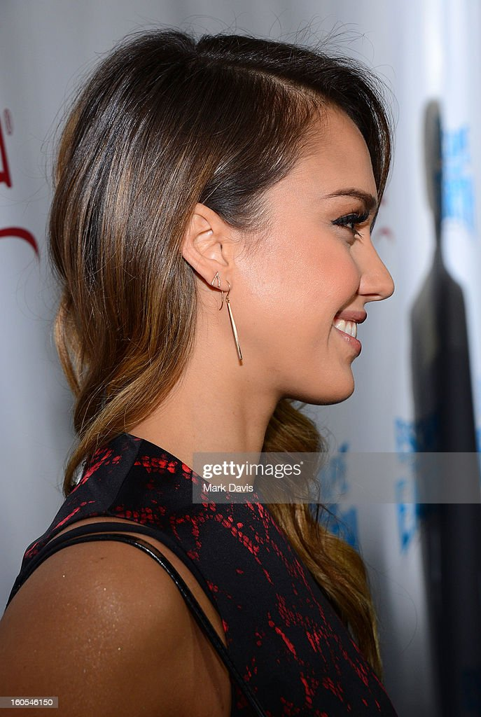 Actress Jessica Alba (shoe detail) attends the premiere of the Weinstein Company's 'Escape From Planet Earth' held at the Mann Chinese 6 on February 2, 2013 in Los Angeles, California.