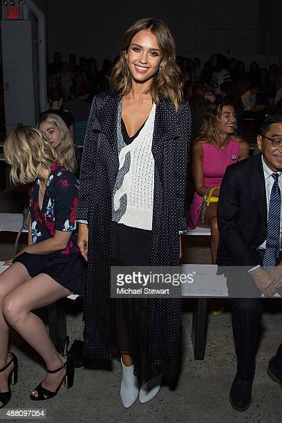 Actress Jessica Alba attends the Thakoon fashion show during Spring 2016 New York Fashion Week at SIR Stage37 on September 13 2015 in New York City