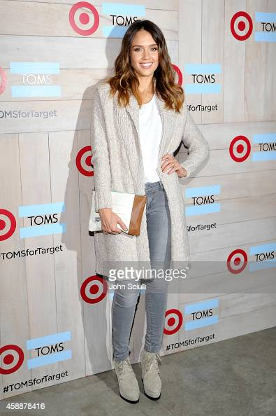 Actress Jessica Alba attends the TOMS for Target Launch Event at Book Bindery on November 12 2014 in Culver City California