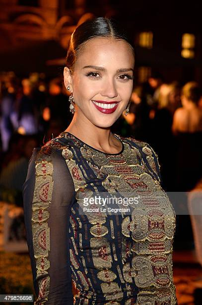 Actress Jessica Alba attends the Tory Burch Paris Flagship store opening after party at on July 7 2015 in Paris France