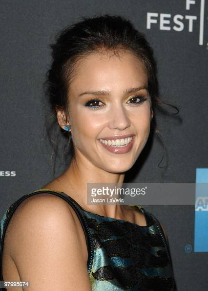 Actress Jessica Alba attends the Tribeca Film launch event and 2010 Tribeca Film Festival celebration at Station Hollywood at W Hollywood Hotel on...