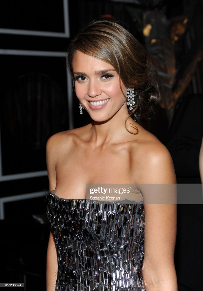 Actress <a gi-track='captionPersonalityLinkClicked' href=/galleries/search?phrase=Jessica+Alba&family=editorial&specificpeople=201811 ng-click='$event.stopPropagation()'>Jessica Alba</a> attends The Weinstein Company Celebration of the 2012 Golden Globes presented by Chopard held at The Beverly Hilton hotel on January 15, 2012 in Beverly Hills, California.