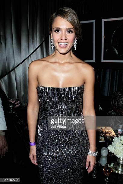 Actress Jessica Alba attends The Weinstein Company's 2012 Golden Globe Awards After Party with Chopard Marie Claire and HP at The Beverly Hilton...