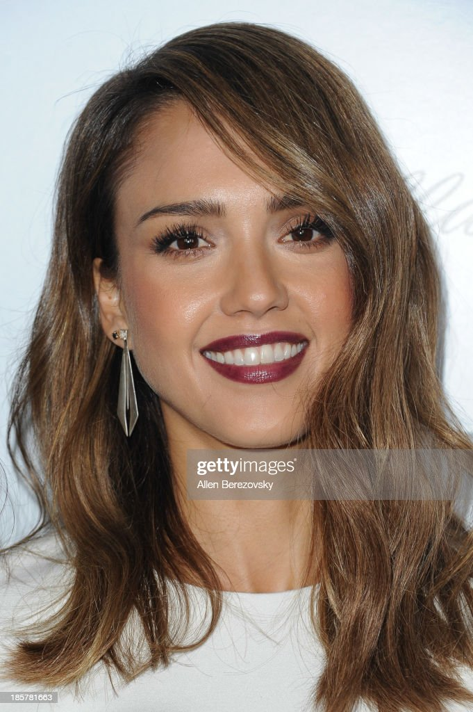 Actress <a gi-track='captionPersonalityLinkClicked' href=/galleries/search?phrase=Jessica+Alba&family=editorial&specificpeople=201811 ng-click='$event.stopPropagation()'>Jessica Alba</a> attends the Who What Wear and Cadillac's 50 Most Fashionable Women of 2013 event at The London Hotel on October 24, 2013 in West Hollywood, California.