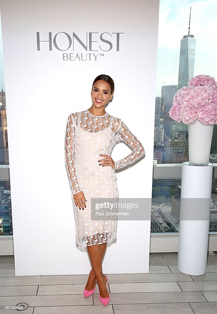 Actress Jessica Alba, Founder and Chief Creative Officer of The Honest Company, attends the Honest Beauty Launch at Trump SoHo on September 9, 2015 in New York City.