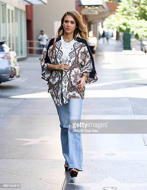 Actress Jessica Alba is seen on September 26 2015 in Los Angeles California