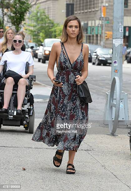 Actress Jessica Alba is seen walking in Soho on June 23 2015 in New York City