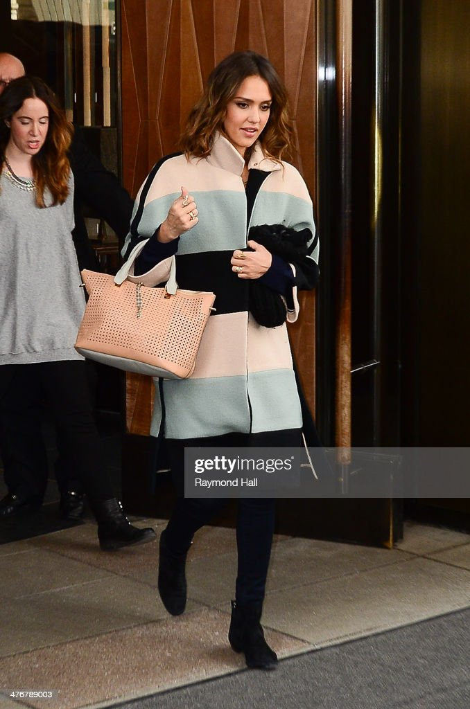 Actress <a gi-track='captionPersonalityLinkClicked' href=/galleries/search?phrase=Jessica+Alba&family=editorial&specificpeople=201811 ng-click='$event.stopPropagation()'>Jessica Alba</a> is seen walking in Soho on March 5, 2014 in New York City.
