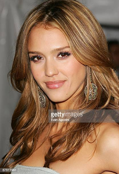 Actress Jessica Alba leaves the Metropolitan Museum of Art Costume Institute Benefit Gala 'AngloMania Tradition and Transgression in British Fashion'...