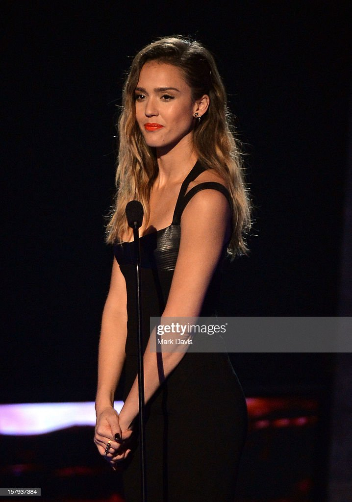 Actress Jessica Alba onstage during Spike TV's 10th annual Video Game Awards at Sony Studios on December 7 2012 in Culver City California