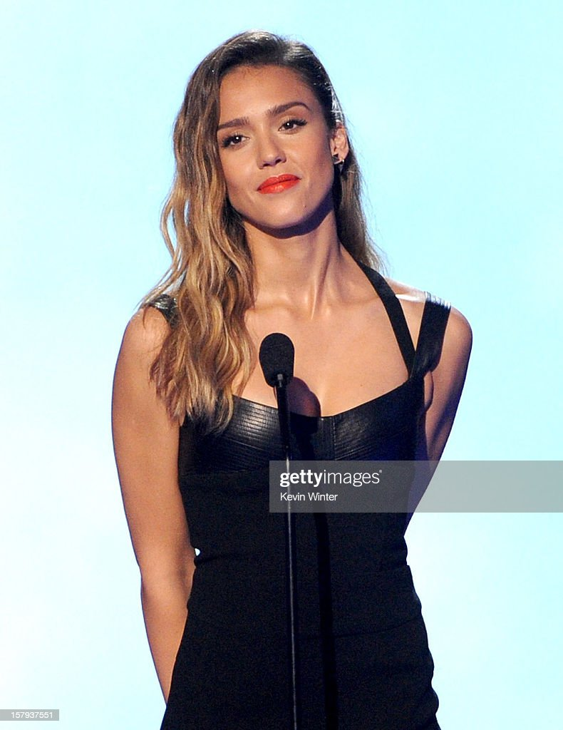 Actress <a gi-track='captionPersonalityLinkClicked' href=/galleries/search?phrase=Jessica+Alba&family=editorial&specificpeople=201811 ng-click='$event.stopPropagation()'>Jessica Alba</a> onstage during Spike TV's 10th annual Video Game Awards at Sony Studios on December 7, 2012 in Culver City, California.