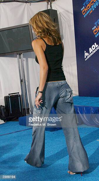 Actress Jessica Alba poses backstage at The 2003 Teen Choice Awards held at Universal Amphitheater on August 2 2003 in Universal City California