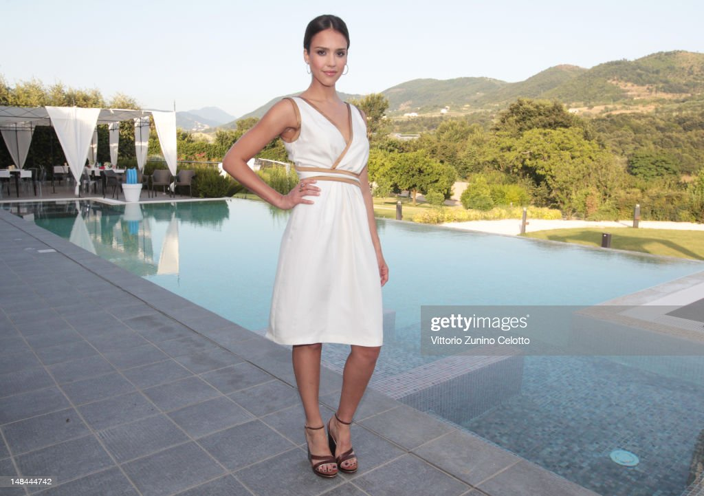 Actress <a gi-track='captionPersonalityLinkClicked' href=/galleries/search?phrase=Jessica+Alba&family=editorial&specificpeople=201811 ng-click='$event.stopPropagation()'>Jessica Alba</a> poses for a portrait session at the 2012 Giffoni Film Festival on July 14, 2012 in Giffoni Valle Piana, Italy.