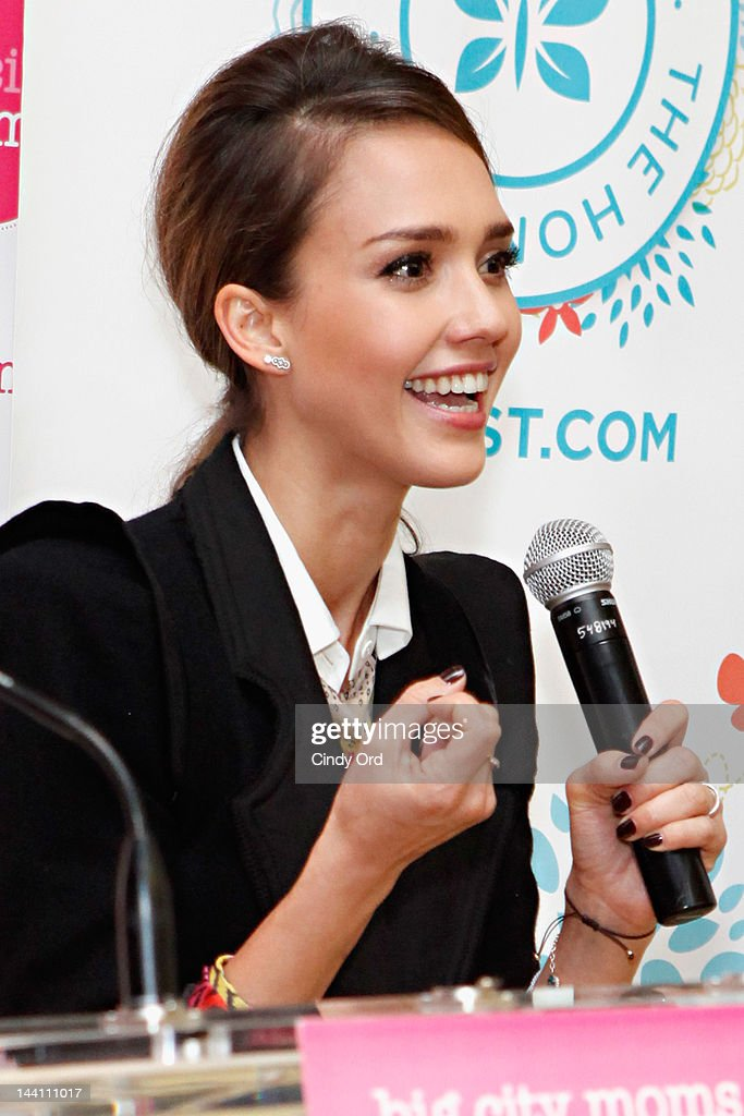 Actress <a gi-track='captionPersonalityLinkClicked' href=/galleries/search?phrase=Jessica+Alba&family=editorial&specificpeople=201811 ng-click='$event.stopPropagation()'>Jessica Alba</a> speaks at Big City Moms Biggest Baby Shower Ever produced by Big City Moms and Fit Pregnancy on May 9, 2012 in New York City.