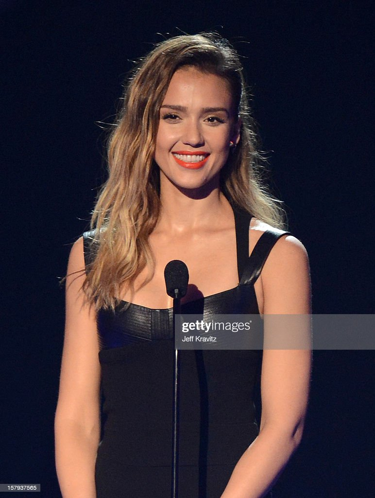 Actress <a gi-track='captionPersonalityLinkClicked' href=/galleries/search?phrase=Jessica+Alba&family=editorial&specificpeople=201811 ng-click='$event.stopPropagation()'>Jessica Alba</a> speaks onstage during Spike TV's 10th annual Video Game Awards at Sony Pictures Studios on December 7, 2012 in Culver City, California.
