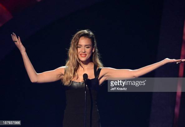 Actress Jessica Alba speaks onstage during Spike TV's 10th annual Video Game Awards at Sony Pictures Studios on December 7 2012 in Culver City...