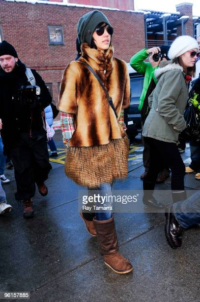 Actress Jessica Alba walks in Park City on January 24 2010 in Park City Utah