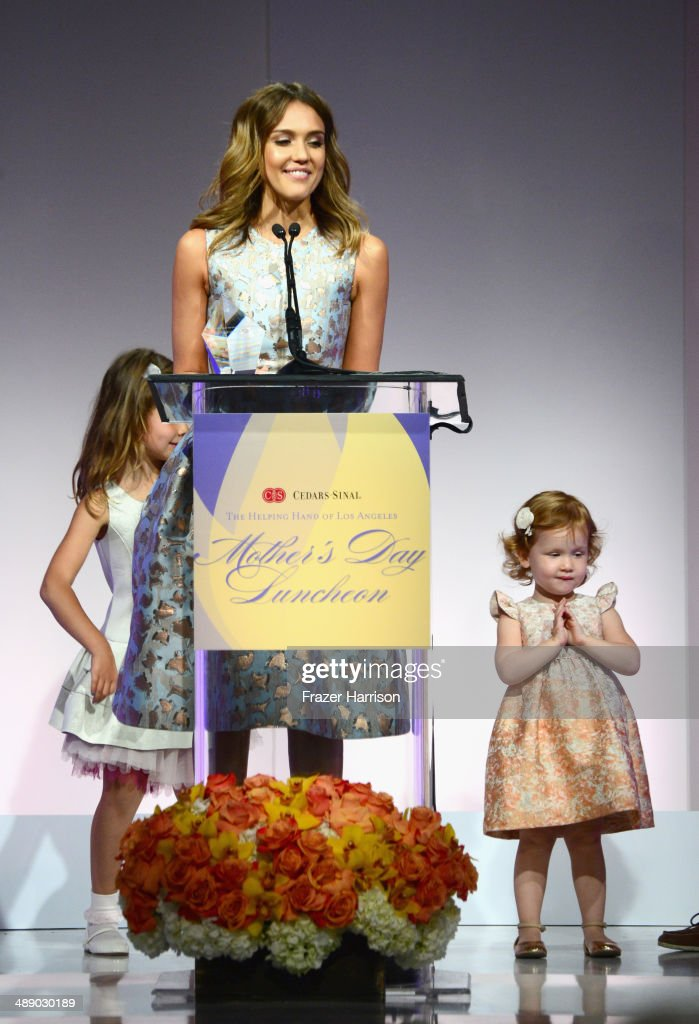Actress <a gi-track='captionPersonalityLinkClicked' href=/galleries/search?phrase=Jessica+Alba&family=editorial&specificpeople=201811 ng-click='$event.stopPropagation()'>Jessica Alba</a> with her children, <a gi-track='captionPersonalityLinkClicked' href=/galleries/search?phrase=Honor+Warren&family=editorial&specificpeople=5597892 ng-click='$event.stopPropagation()'>Honor Warren</a> and <a gi-track='captionPersonalityLinkClicked' href=/galleries/search?phrase=Haven+Warren&family=editorial&specificpeople=9593719 ng-click='$event.stopPropagation()'>Haven Warren</a> at The Helping Hand of Los Angeles Mother's Day Luncheon at The Beverly Hilton Hotel on May 9, 2014 in Beverly Hills, California.