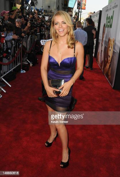 Actress Jessica Barth arrives at the Premiere of Universal Pictures' 'Ted' sponsored in part by AXE Hair at Grauman's Chinese Theatre on June 21 2012...