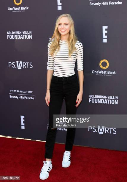 Actress Jessica Belkin attends PS ARTS' Express Yourself 2017 event at Barker Hangar on October 8 2017 in Santa Monica California
