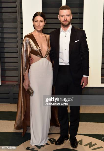 Actress Jessica Biel and actor/singer Justin Timberlake arrive at the 2017 Vanity Fair Oscar Party Hosted By Graydon Carter at Wallis Annenberg...