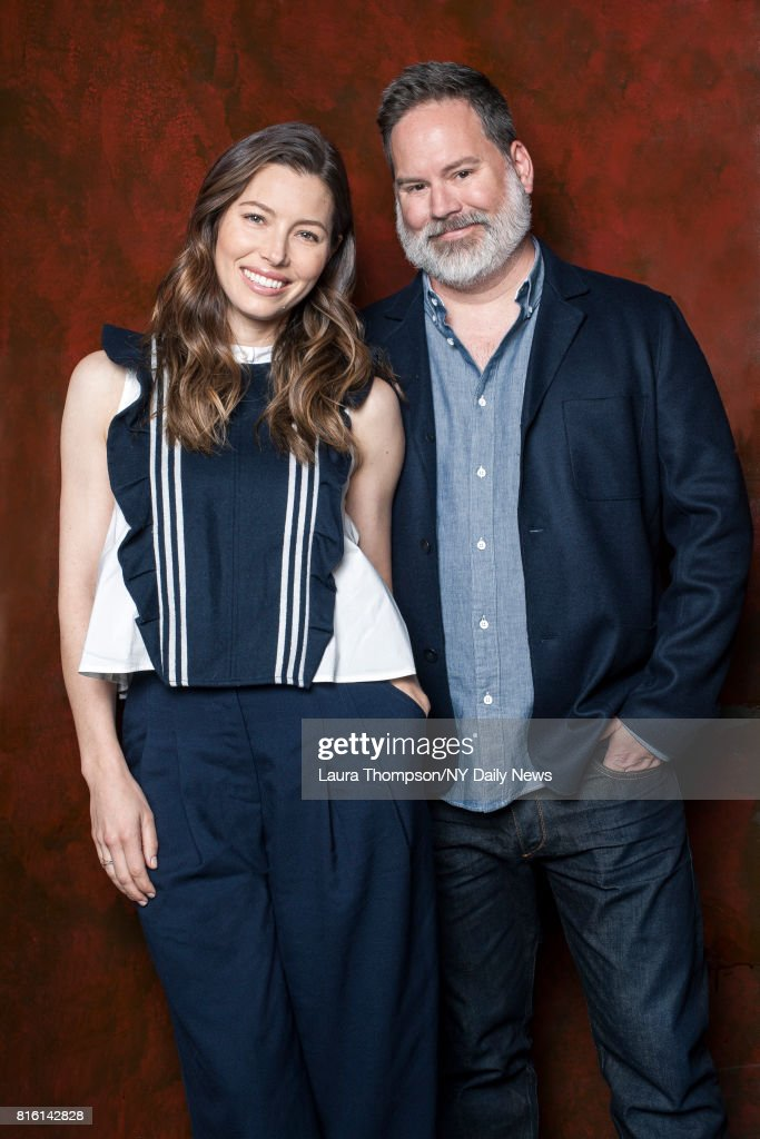 Actress Jessica Biel and director Bill Purple photographed for NY Daily News on April 14, 2016, in New York City.
