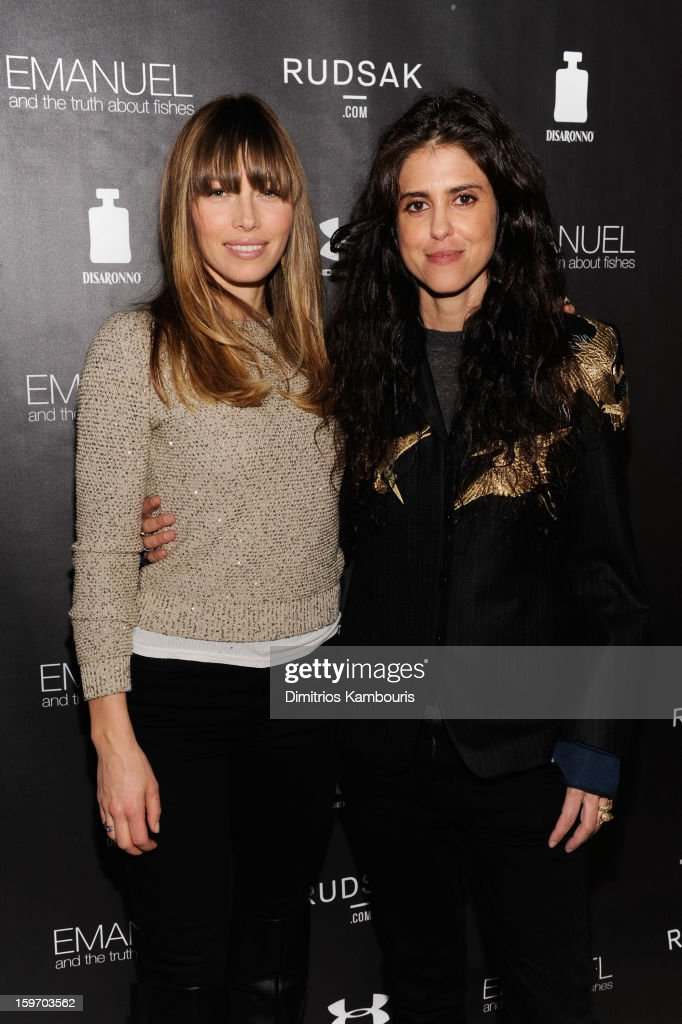 Actress Jessica Biel (L) and director Francesca Gregorini attend The Next Generation Filmmaker Dinner Series Presents 'Emanuel And The Truth About Fishes' on January 18, 2013 in Park City, Utah.