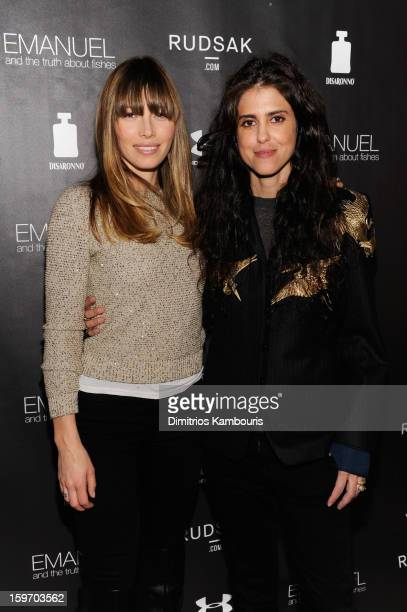 Actress Jessica Biel and director Francesca Gregorini attend The Next Generation Filmmaker Dinner Series Presents 'Emanuel And The Truth About...