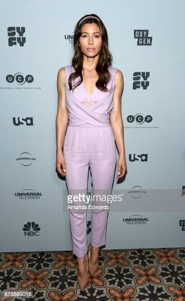 Actress Jessica Biel arrives at NBCUniversal's Press Junket at Beauty Essex on November 13 2017 in Los Angeles California