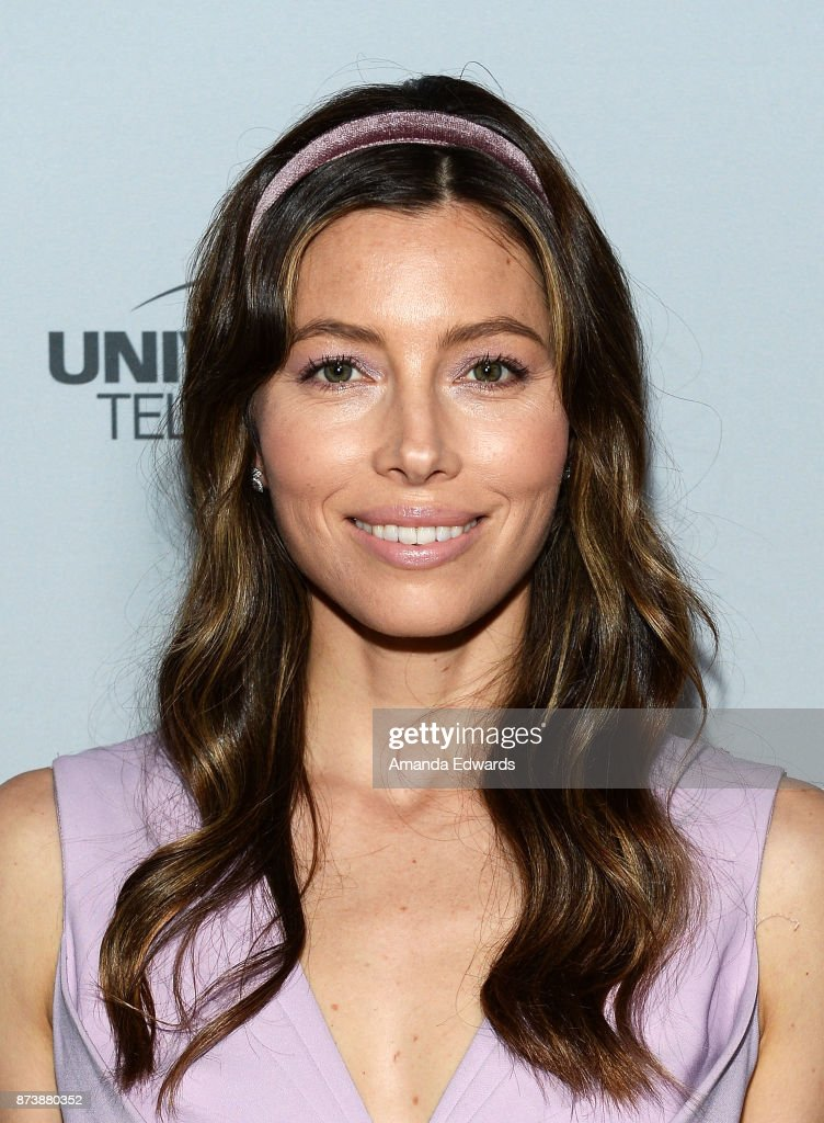 Actress Jessica Biel arrives at NBCUniversal's Press Junket at Beauty & Essex on November 13, 2017 in Los Angeles, California.