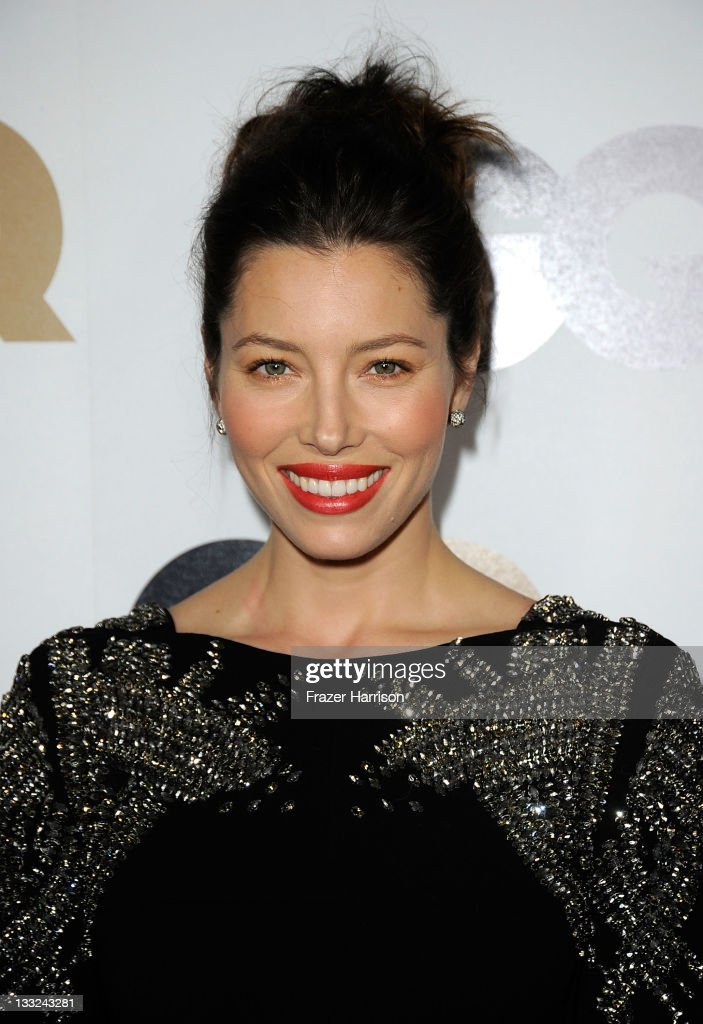 Actress <a gi-track='captionPersonalityLinkClicked' href=/galleries/search?phrase=Jessica+Biel&family=editorial&specificpeople=203011 ng-click='$event.stopPropagation()'>Jessica Biel</a> arrives at the 16th Annual GQ 'Men Of The Year' Party at Chateau Marmont on November 17, 2011 in Los Angeles, California.