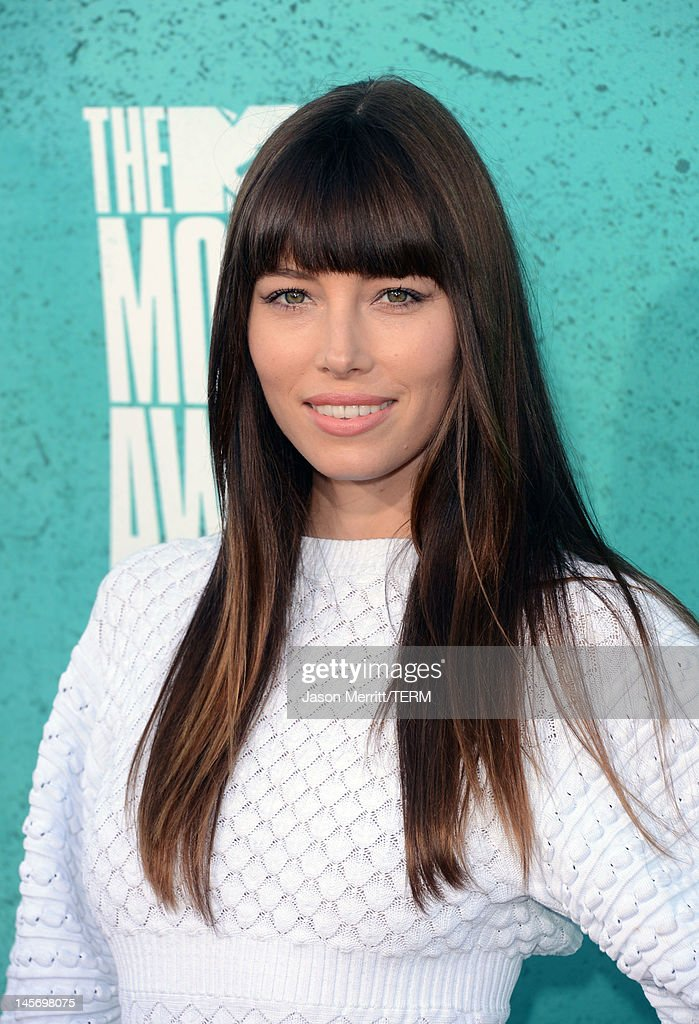 Actress Jessica Biel arrives at the 2012 MTV Movie Awards held at Gibson Amphitheatre on June 3, 2012 in Universal City, California.