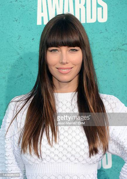 Actress Jessica Biel arrives at the 2012 MTV Movie Awards held at Gibson Amphitheatre on June 3 2012 in Universal City California