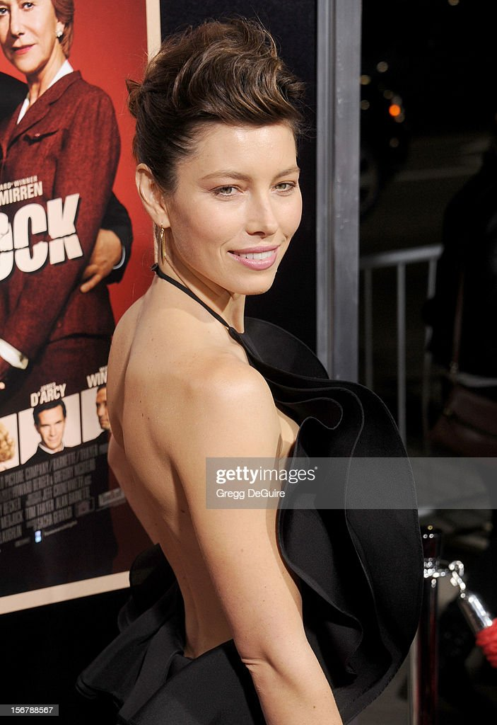 Actress Jessica Biel arrives at the Los Angeles premiere of 'Hitchcock' at the Academy of Motion Picture Arts and Sciences on November 20, 2012 in Beverly Hills, California.