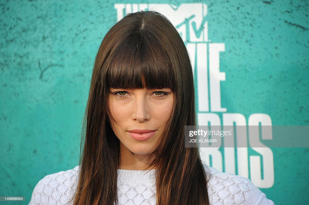 Actress Jessica Biel arrives at the MTV Movie Awards at Universal Studios, in Los Angeles, California, on June 3, 2012. AFP PHOTO / JOE KLAMAR