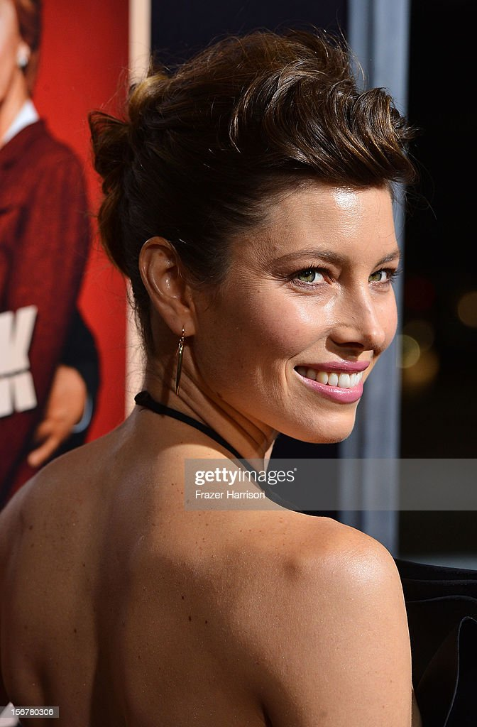 Actress <a gi-track='captionPersonalityLinkClicked' href=/galleries/search?phrase=Jessica+Biel&family=editorial&specificpeople=203011 ng-click='$event.stopPropagation()'>Jessica Biel</a> arrives at the Premiere Of Fox Searchlight Pictures' 'Hitchcock' at AMPAS Samuel Goldwyn Theater on November 20, 2012 in Beverly Hills, California.