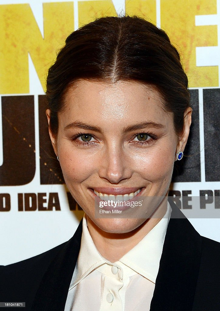 Actress <a gi-track='captionPersonalityLinkClicked' href=/galleries/search?phrase=Jessica+Biel&family=editorial&specificpeople=203011 ng-click='$event.stopPropagation()'>Jessica Biel</a> arrives at the world premiere of Twentieth Century Fox and New Regency's film 'Runner Runner' at Planet Hollywood Resort & Casino on September 18, 2013 in Las Vegas, Nevada.