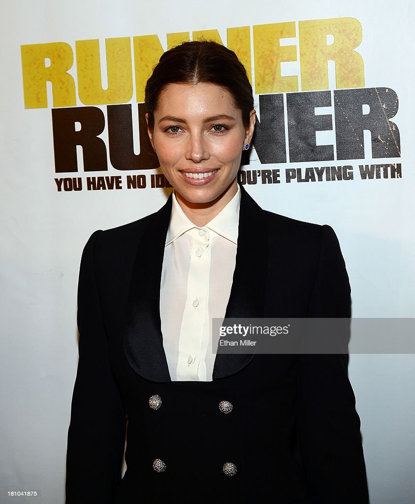 Actress Jessica Biel arrives at the world premiere of Twentieth Century Fox and New Regency's film 'Runner Runner' at Planet Hollywood Resort Casino...