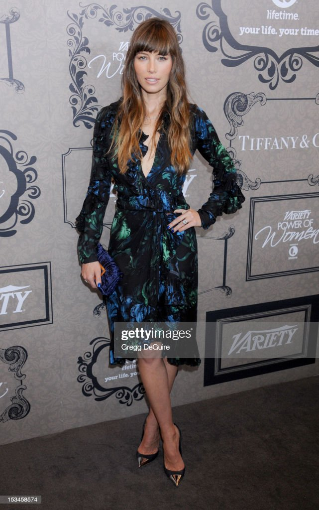 Actress <a gi-track='captionPersonalityLinkClicked' href=/galleries/search?phrase=Jessica+Biel&family=editorial&specificpeople=203011 ng-click='$event.stopPropagation()'>Jessica Biel</a> arrives at Variety's 4th Annual Power Of Women event at the Beverly Wilshire Four Seasons Hotel on October 5, 2012 in Beverly Hills, California.