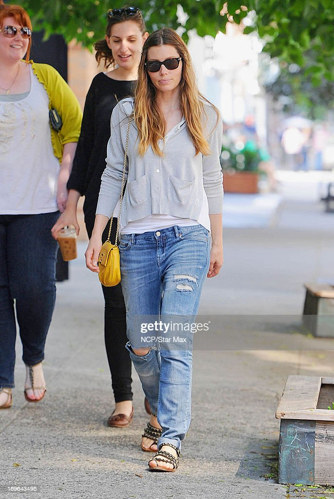 Actress Jessica Biel as seen on May 29, 2013 in New York City.