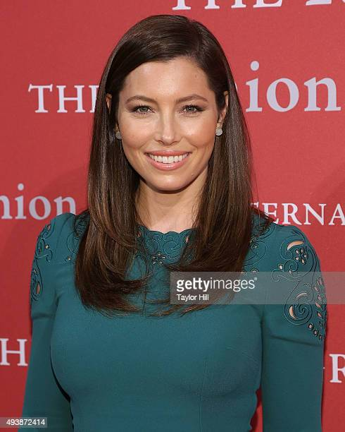 Actress Jessica Biel attends Fashion Group International's 2015 Night of Stars The Revolutionaries at Cipriani Wall Street on October 22 2015 in New...