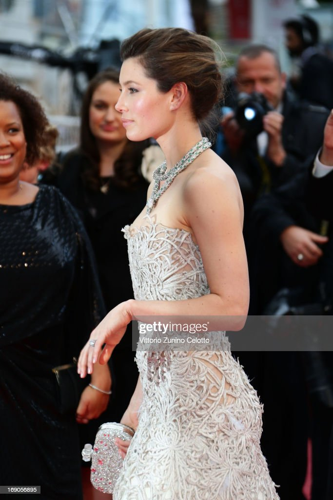 Actress Jessica Biel attends 'Inside Llewyn Davis' Premiere during the 66th Annual Cannes Film Festival at Palais des Festivals on May 19, 2013 in Cannes, France.