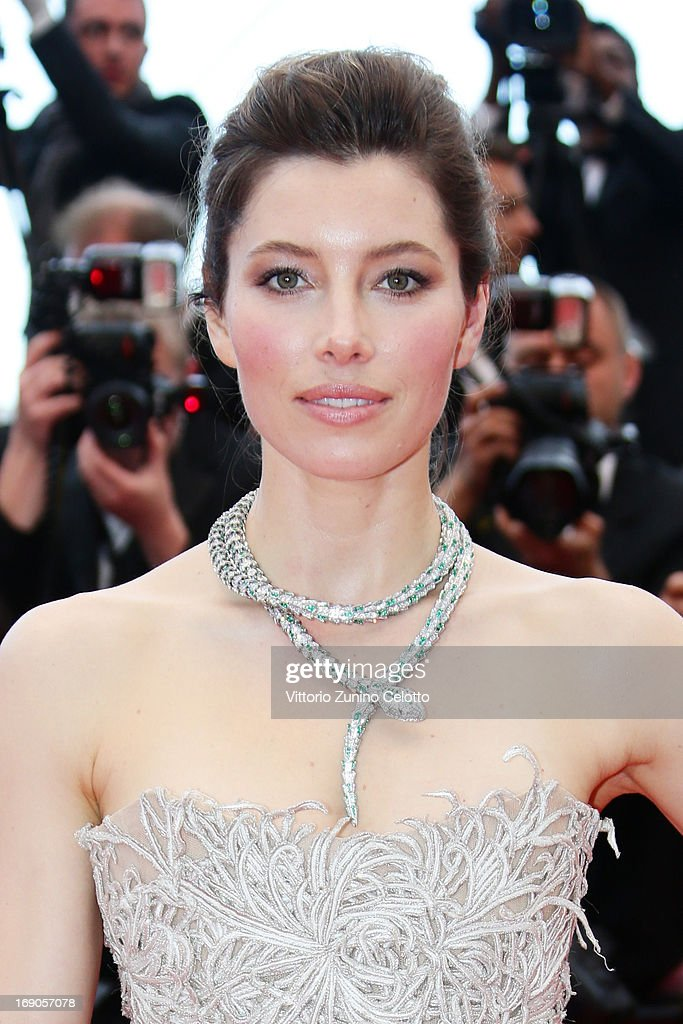 Actress <a gi-track='captionPersonalityLinkClicked' href=/galleries/search?phrase=Jessica+Biel&family=editorial&specificpeople=203011 ng-click='$event.stopPropagation()'>Jessica Biel</a> attends 'Inside Llewyn Davis' Premiere during the 66th Annual Cannes Film Festival at Palais des Festivals on May 19, 2013 in Cannes, France.