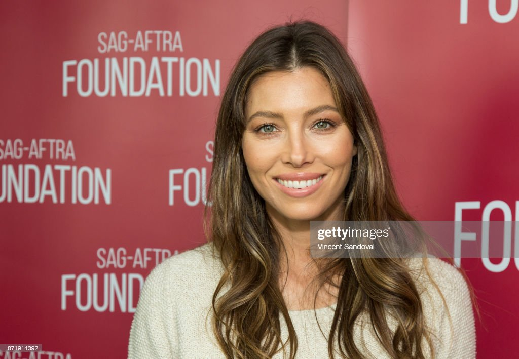 Actress Jessica Biel attends SAG-AFTRA Foundation Conversations screening of 'The Sinner' at SAG-AFTRA Foundation Screening Room on November 8, 2017 in Los Angeles, California.