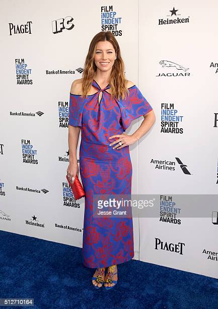 Actress Jessica Biel attends the 2016 Film Independent Spirit Awards sponsored by Heineken on February 27 2016 in Santa Monica California