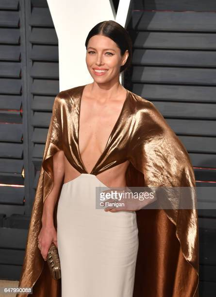 Actress Jessica Biel attends the 2017 Vanity Fair Oscar Party hosted by Graydon Carter at Wallis Annenberg Center for the Performing Arts on February...