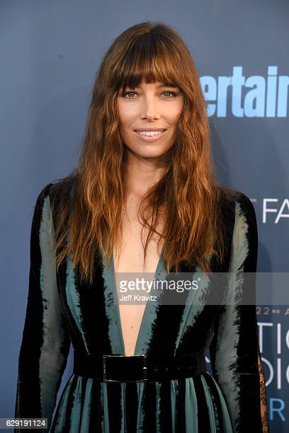 Actress Jessica Biel attends The 22nd Annual Critics' Choice Awards at Barker Hangar on December 11 2016 in Santa Monica California